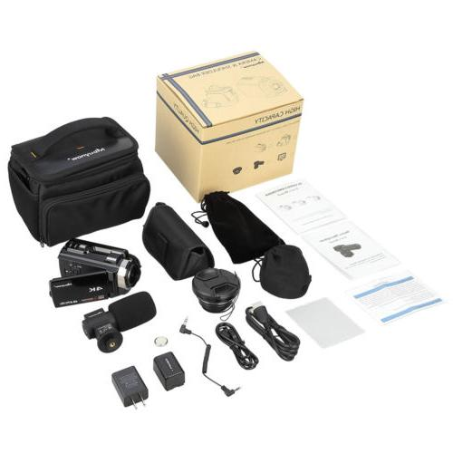 Professional Video Ultra HD Camcorder Wide