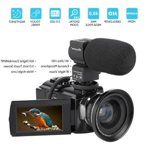 professional video camera 4k ultra hd 48mp