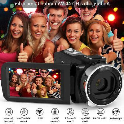 Andoer HD WiFi Digital Camera DV Recorder Microphone Y1N1