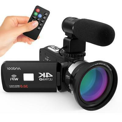 4K Ultra HD Digital Video Camera Zoom with