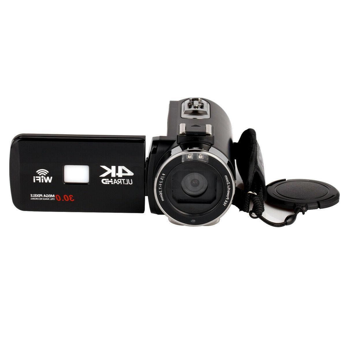 4K WiFi 16X Camera DV + Lens + Microphone
