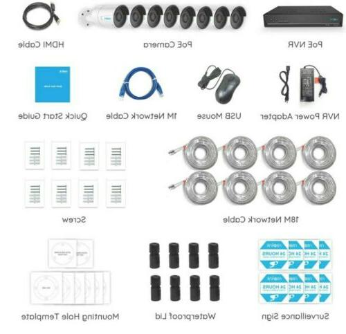 Reolink 16CH Video HDD, 8pcs Outdoor Cameras