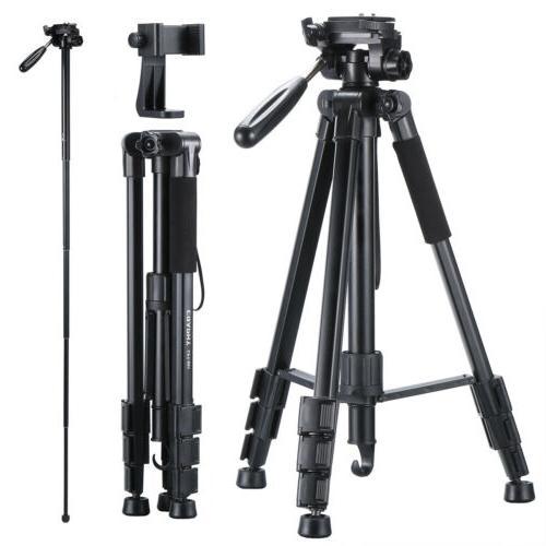 "65"" Camera Tripod Portable Monopod For Digital Cameras Video"