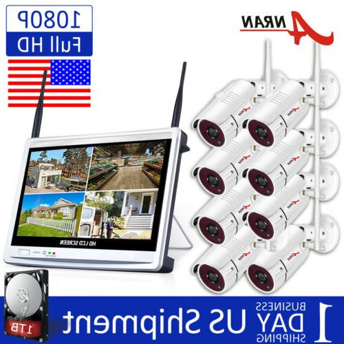 8ch 1080p wireless outdoor security camera system