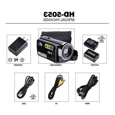 Camcorder FHD Wi-Fi HDMI 16...