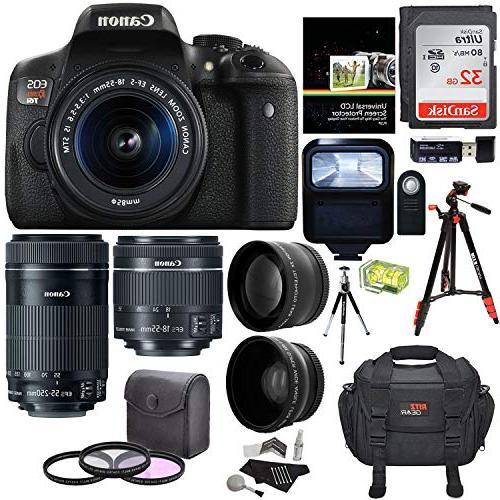 Canon EOS Rebel T6i Digital SLR EF-S 18-55mm is STM Lens + E