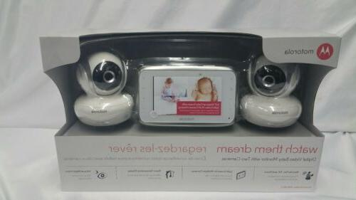 "Motorola Mbp38s 2 Digital Video Baby Cam Wit 4.3/"" Color LCD Screen Monitor"