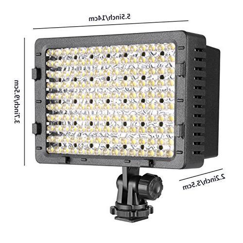 NEEWER 160 Dimmable Panel Digital Camcorder Video Light Pentax, Olympus Digital SLR