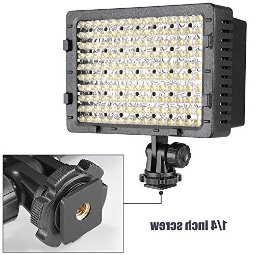 NEEWER Dimmable Ultra Panel Camera / Camcorder Video LED Light Canon, Pentax, Panasonic,SONY, Samsung Olympus Cameras