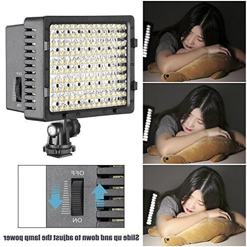 NEEWER LED Dimmable Ultra Panel Digital Camera / Camcorder Light for Canon, Pentax, Olympus Cameras