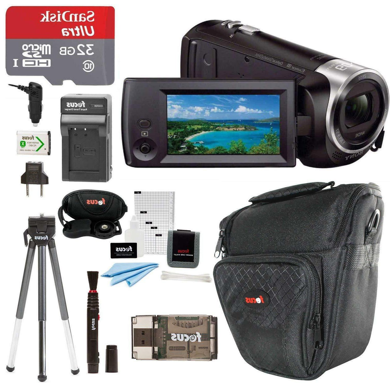 Sony HDR-CX405/B Handycam HD Camcorder w/32GB Deluxe Accesso
