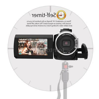 WiFi 4K ULTRA HD 1080P 48MP Digital Camera Camcorder DV+Mic+Lens