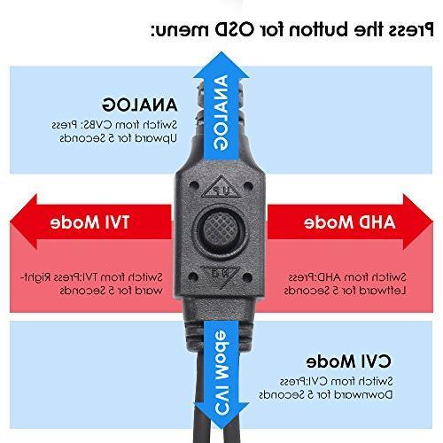 TVI/CVI/AHD/960H CVBS Weatherproof Cameras lens,120ft IR Distance, Housing For HD-TVI, and CVBS/960H