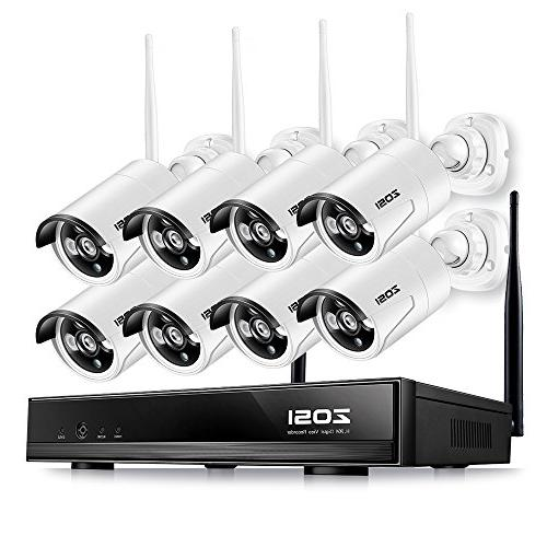 ZOSI 720p HD 1 0 Megapixel Wireless Outdoor Indoor Video Surveillance IP  Network Security Camera System 8CH NVR NO Hard Drive ,IR Night Vision,  Motion
