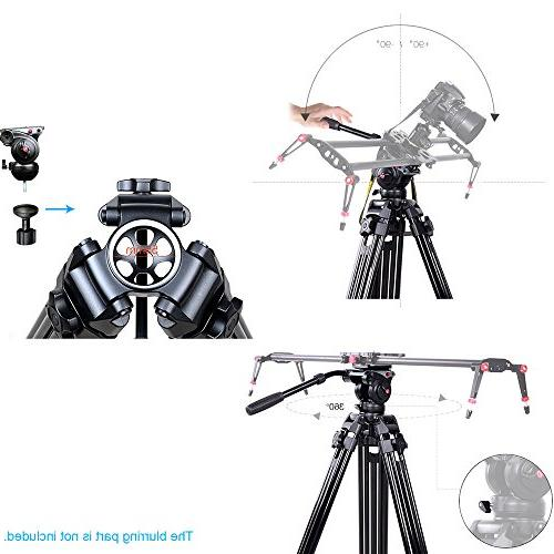 Andoer fluid tripod, Camera Tripod with Fluid Drag Pan for Video
