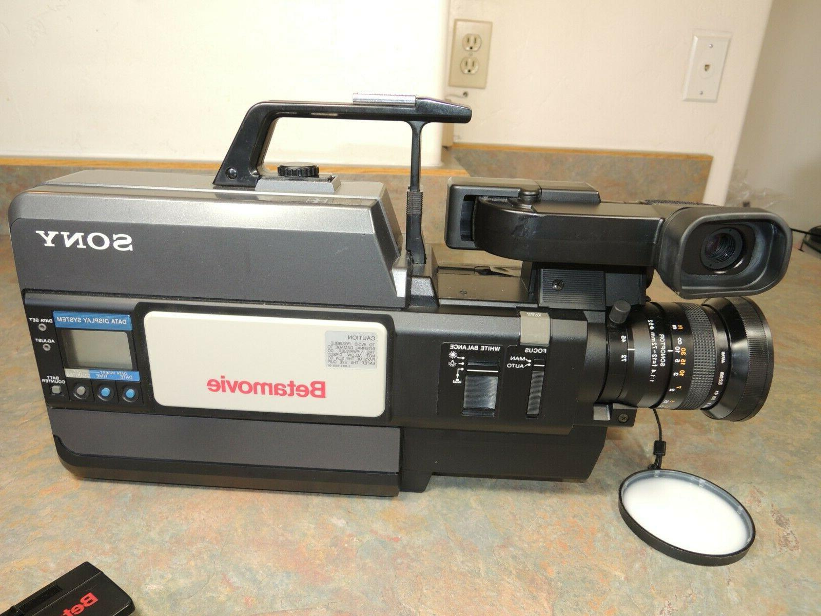 SONY BMC-550 Betamovie Camcorder Video BMC 550 WORKS