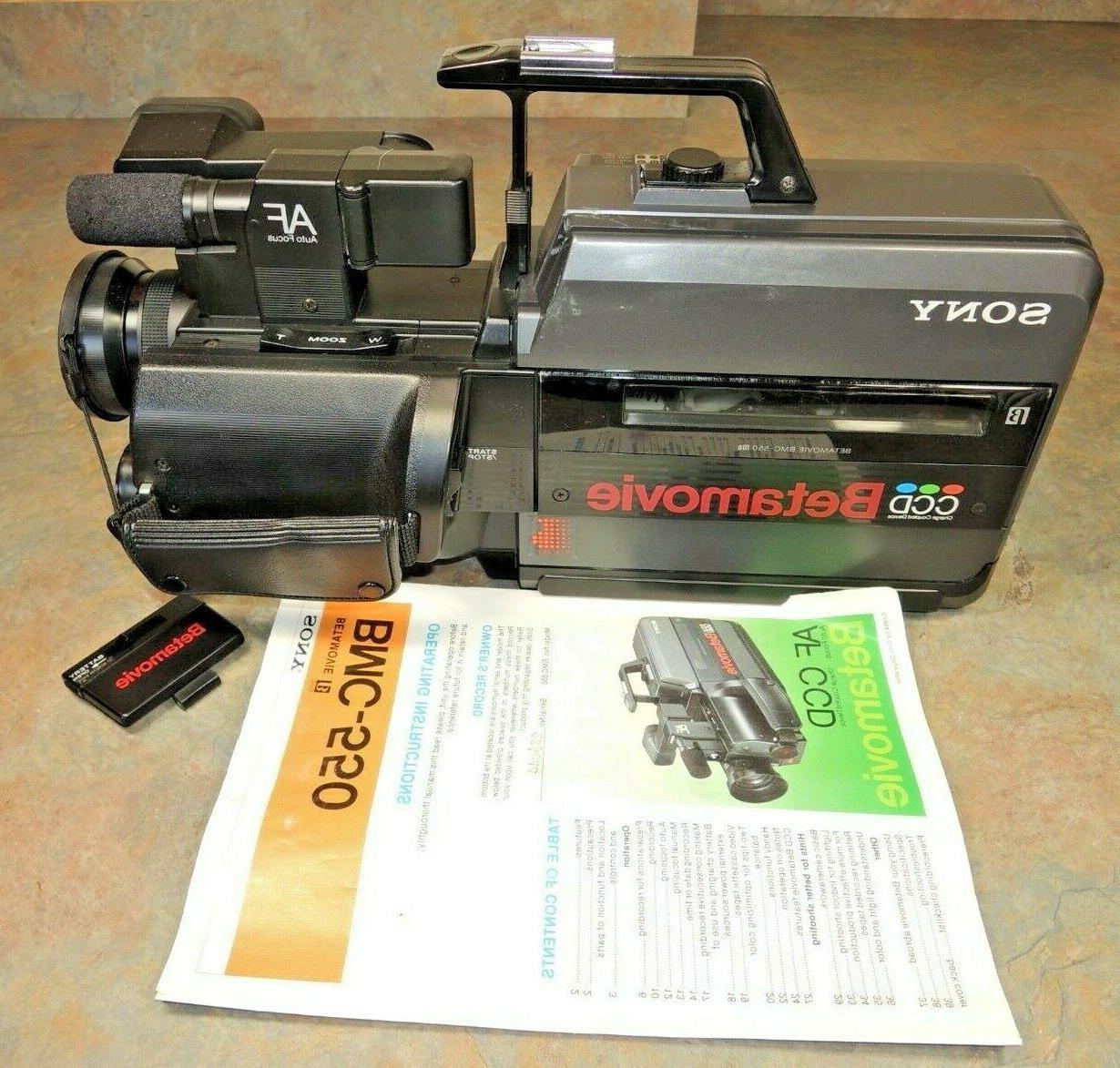 bmc 550 betamovie camcorder video camera vtg