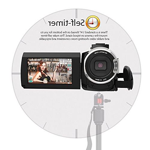 Video Camcorder, Digital Video 2880 x 3inch with IR Sight Support Max Storage