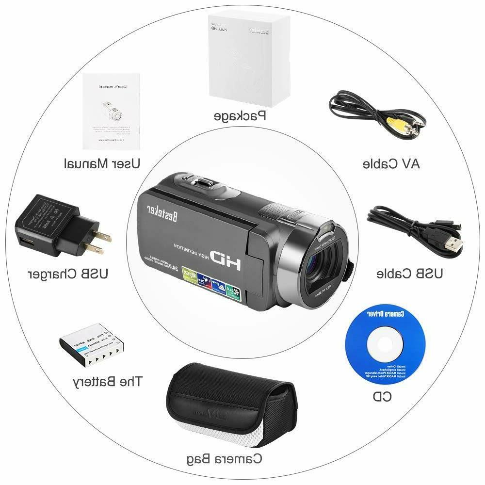 Camcorder Video Camera YouTube Cam with 24M Zoom