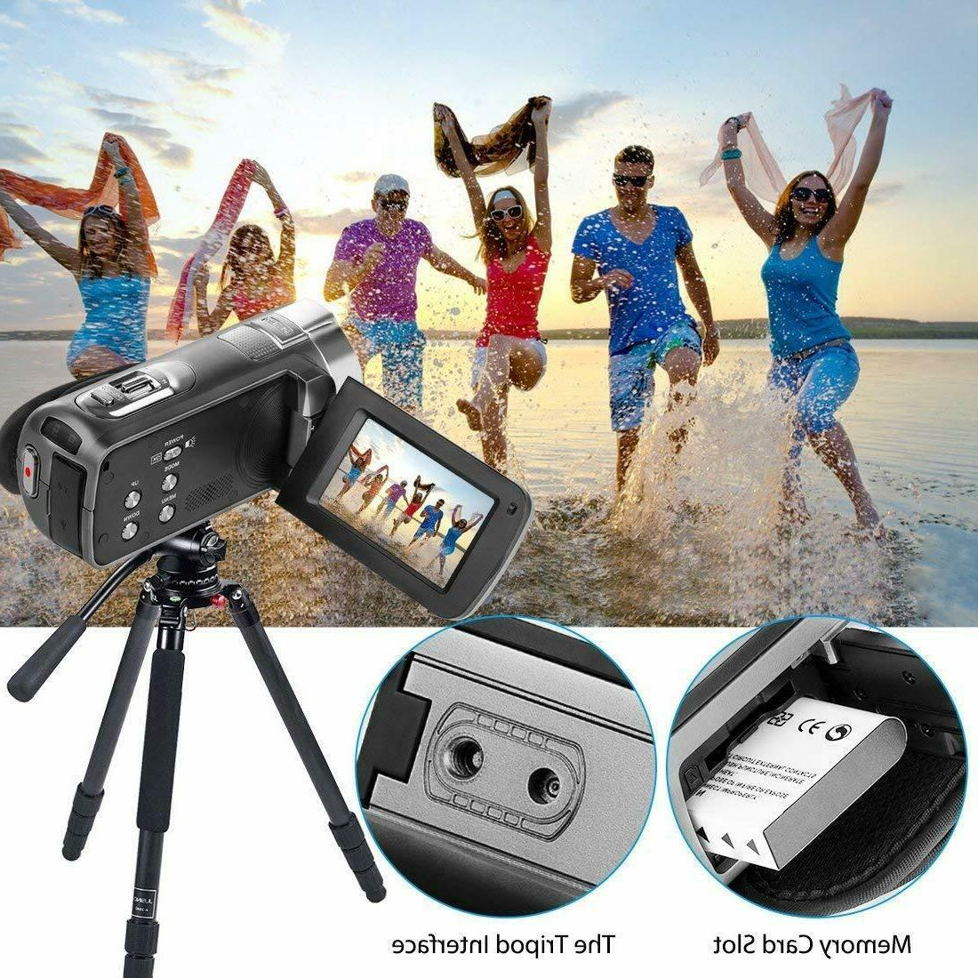 Camcorder 1080P Video YouTube Cam Zoom