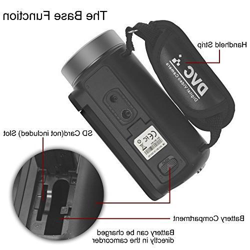 "WELIKERA Camera Night Vision Camcorder, 1080P 24MP Digital Zoom Video 3.0"" Degree Rotation Screen"