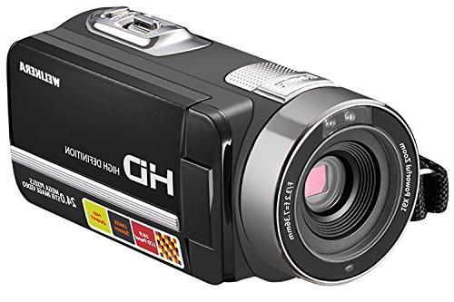 "WELIKERA Camera Camcorder, Remote Control Handy Night Camcorder, HD 1080P Zoom 3.0"" LCD 270 Degree Rotation"