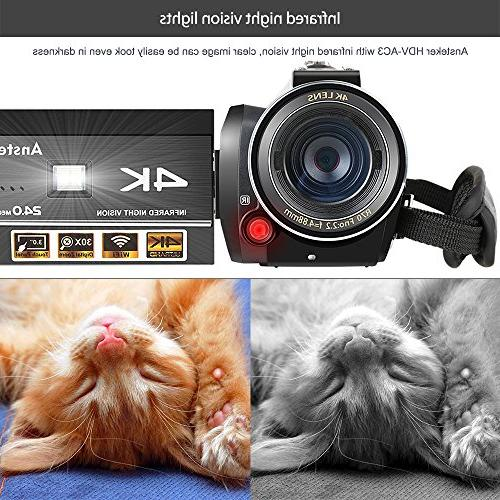 4K 1080P Digital WiFi Video Night Vision Microphone and Lens,Lens