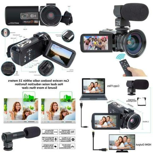 Camcorder Camcorders Video Camera Kimire HD 1080P 16X Powerf