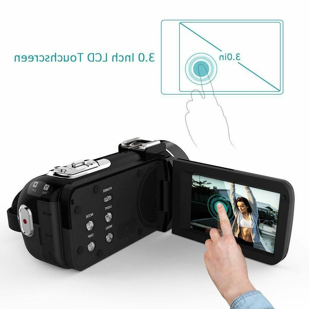 Camcorder, Camera 1080P HD Zoom WiFi Video Camcorder...