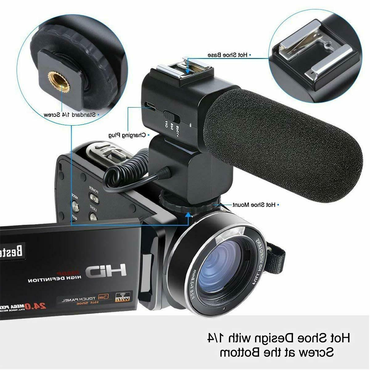 """Besteker Video Camera HD 24MP Digital 3"""" LCD Screen"""