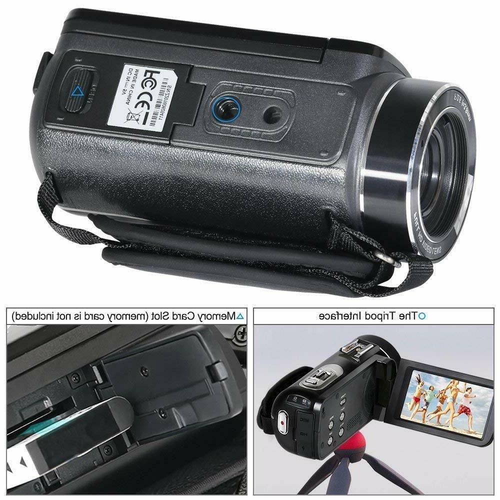 Besteker Camcorder Camera HD WiFi Digital LCD Touch Screen