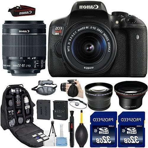 canon eos rebel t6i dslr camera 18 55mm stm lens kit include