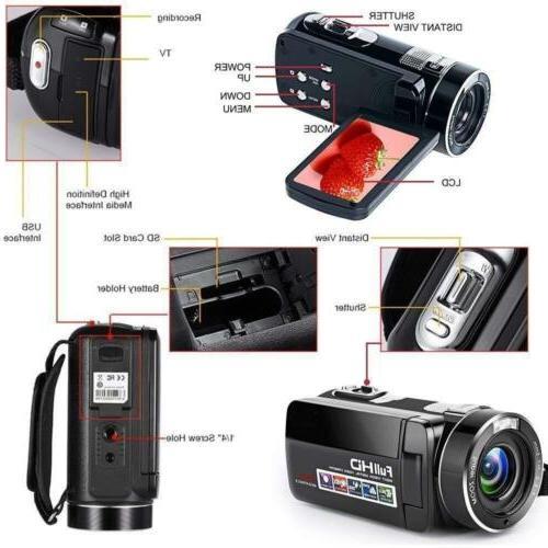 Digital Camcorder with IR Night HD Video