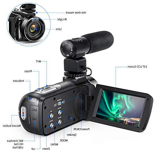 Andoer Video FHD Infrared Vision Rotating LCD Digital Zoom Remote with