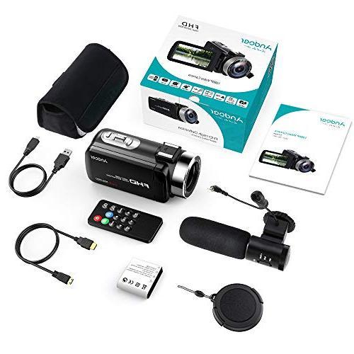 "Andoer Digital Video FHD 1080P Camera Infrared Night 3.0"" Rotating Digital with External"