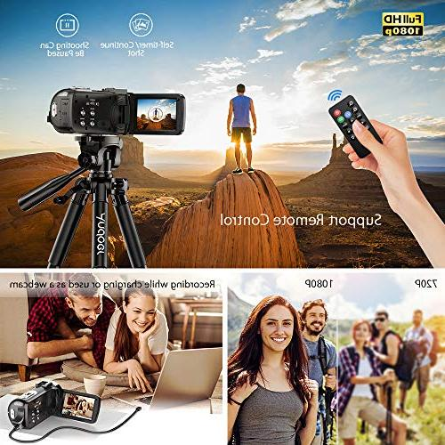Andoer Digital Video Camecorder FHD 1080P Video Infrared Night Rotating Screen Digital Zoom with Microphone