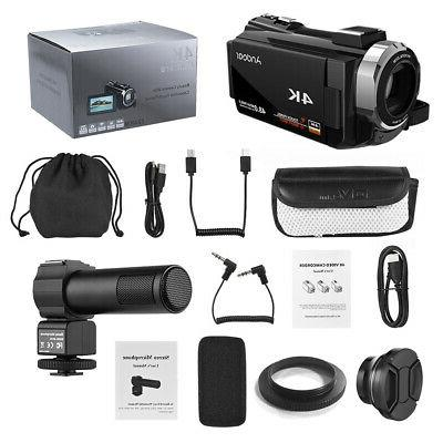 Digital Camera Recorder Camcorder DV WiFi ULTRA HD 48MP 1080P+ Lens