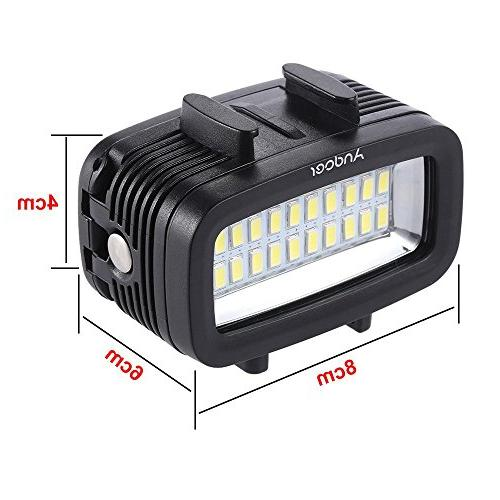 Andoer Diving Video Fill-in Light Lamp Built-in Rechargeable Battery Diffuser for GoPro SJCAM Xiaomi Yi Sports Camera