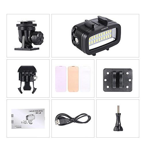 Andoer Fill-in Light Lamp Built-in Rechargeable Battery Diffuser Xiaomi Camera