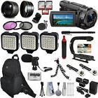 Sony FDR-AX53 4K HD Handycam Camcorder Video Camera + Action