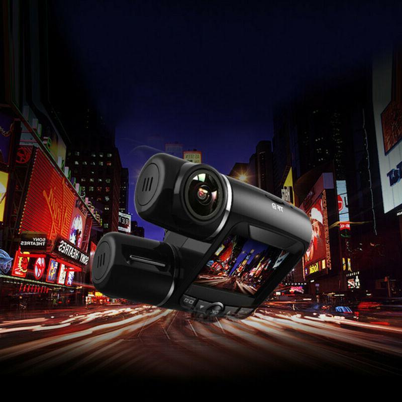 FHD 1080P+1080P 2inch Car DVR Dual Cameras Vehicle Video Recorder