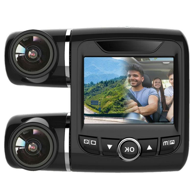 FHD 1080P+1080P 2inch Car DVR Dual Lens Cameras Rear Video Recorder