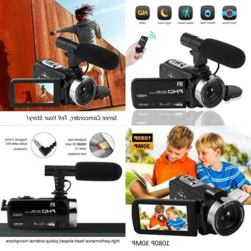 Full HD 1080P Night Vision Camcorder Vlogging Camera Bloggin