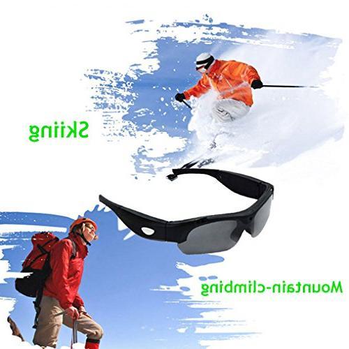 ZIMINGU 1080p Video Hidden Camera Eyewear Sunglasses for Recording Card