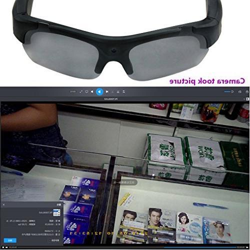ZIMINGU Camera Video 5MP Camera Sunglasses for Running Recording 8GB SD Card
