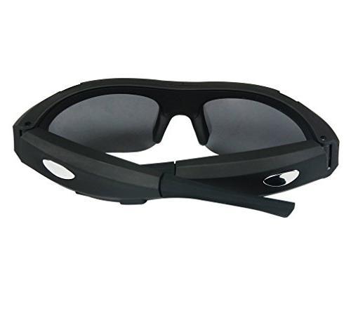 ZIMINGU Camera Video 5MP Camera Sunglasses for Sports Recording Card