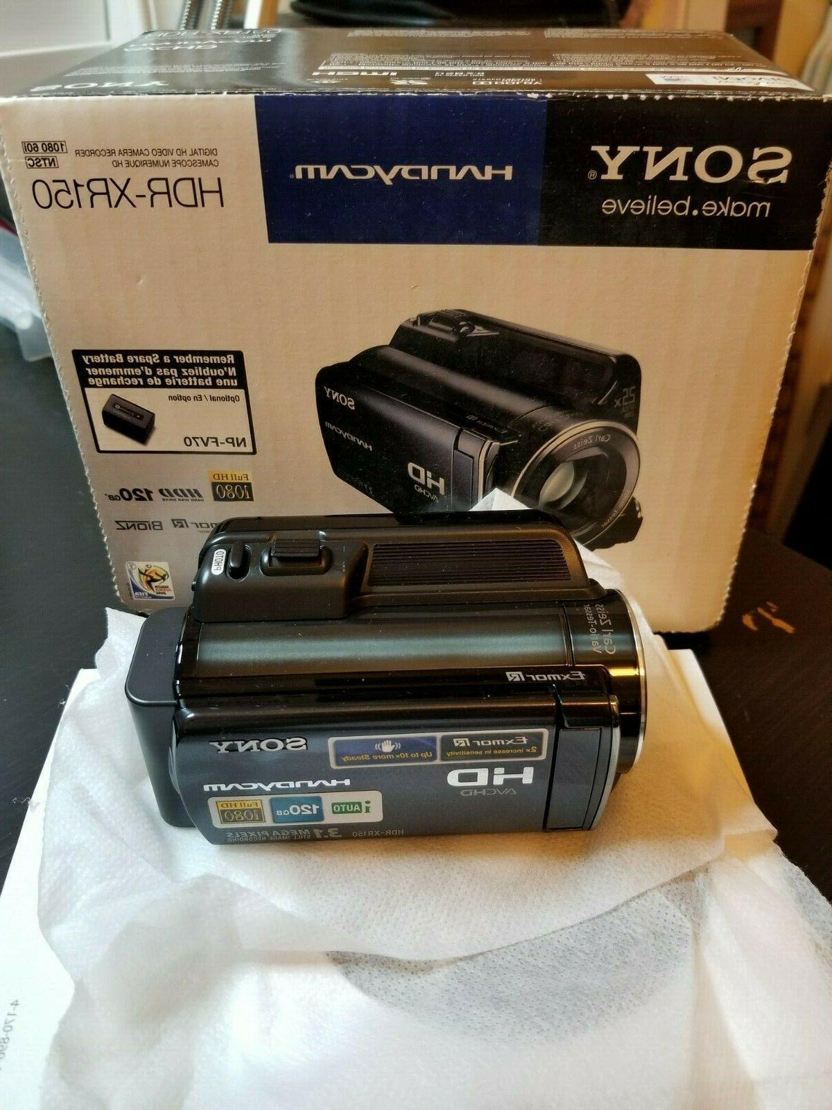 handycam hdr xr150 video camera