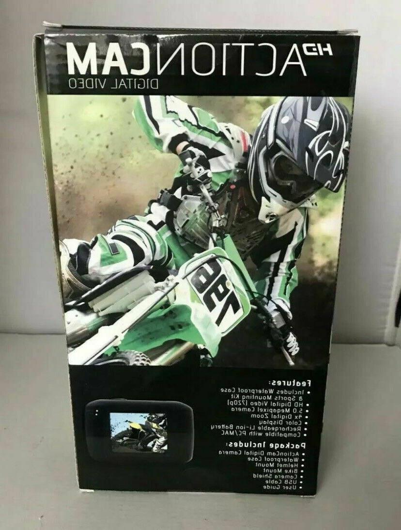 Emerson HD Action Cam - Digital Camera, Mount - New In Box