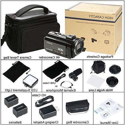 ACTITOP HDV-UHD-02 Video Wi-Fi Digital IR Night IPS Bag, Black
