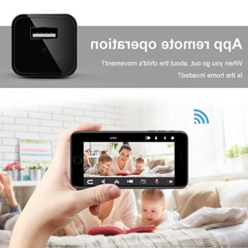 FREDI Camera 1080p HD WiFi spy Camera for Phone/iPad Remote View with Motion